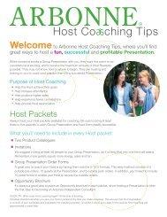 Arbonne Host Coaching Tips