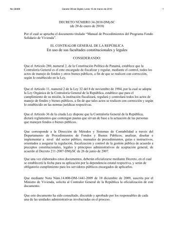 Manual de Procedimientos - Gaceta Oficial Digital