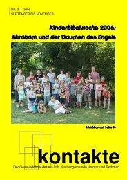 Kontakte_September_06 pdf 3,3mb - Kirchenkreis Burgdorf