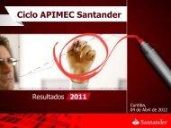 Apresentação da APIMEC - Curitiba/PR - Santander