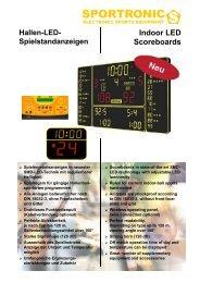 Indoor LED Scoreboards - Sportronic
