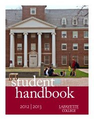 Student Handbook - Division of Campus Life - Lafayette College