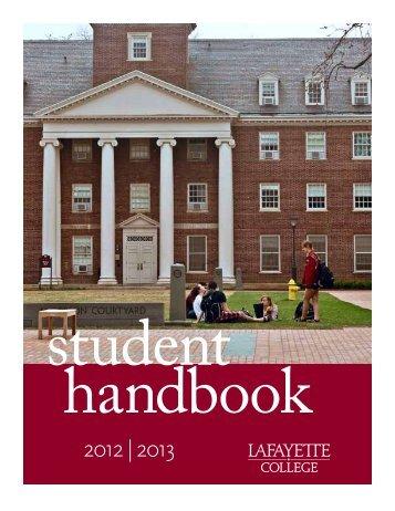 Student Handbook - Division of Campus Life - Lafayette College