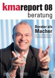 Berater als Macher - kma Online