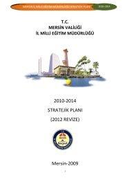 Stratejik Plan - Mersin İl Milli Eğitim Müdürlüğü - Milli Eğitim Bakanlığı
