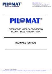 Manuale tecnico PILOMAT 127P 600 A PZ - Logismarket