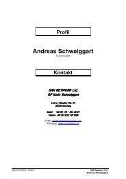 Profil Andreas Schweiggart - sak | network ltd.