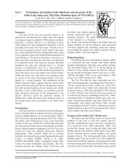 Preliminary description of the lithofacies and structure of the Schist ...