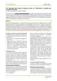 Tfr: intervento del Fondo di Garanzia anche se il fallimento è ...