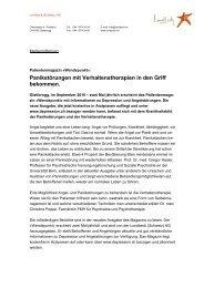 Panikstörungen mit Verhaltenstherapien in den Griff ... - Depression.ch
