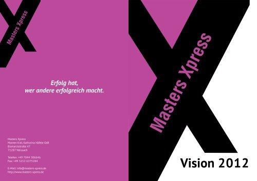 Vision 2012 - Masters Xpress