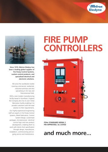 FIRE PUMP CONTROLLERS - Metron Eledyne