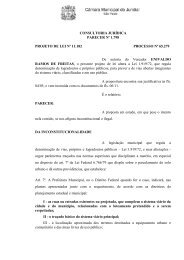 CONSULTORIA JURÍDICA PARECER Nº 1.798 PROJETO DE LEI ...