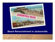 Beach Renourishment in Duval County - fsbpa