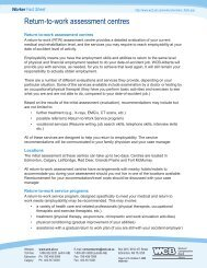 Return-to-work assessment centres fact sheet