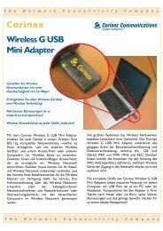Wireless G USB Mini Adapter - Corinex