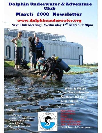 March 2008 Newsletter - DolphinUnderwater.org
