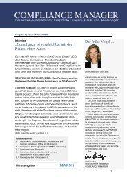 (PDF) | Ausgabe Januar 2007 - Compliance