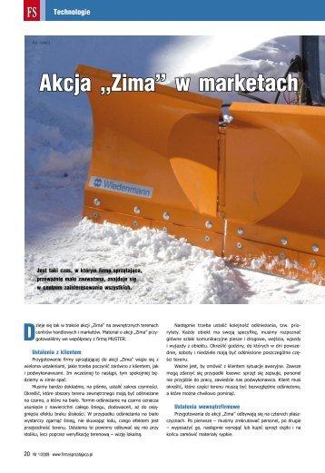 """Akcja """"Zima"""" w marketach - Firma Sprzątająca"""