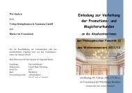 Einladung zur Verleihung der Promotions- und Magisterurkunden