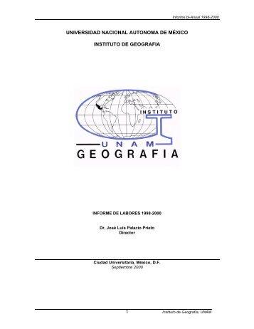 Informe de Actividades 1998 - Instituto de Geografía - Universidad ...