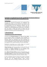 Gemeinsame Anwendungshinweise des DFV und BFM für ...