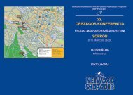 Részletes program - Networkshop - Niif