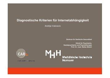 Diagnostische Kriterien für Internetabhängigkeit - DG-Sucht
