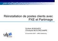 Réinstallation de postes clients avec PXE et Partimage