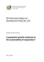 ZEF-Discussion Papers on Development Policy No. 152 Is ...
