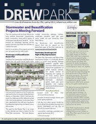Drew Park Newsletter - City of Tampa