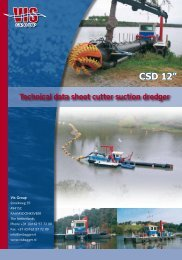 """CSD 12"""" Technical data sheet cutter suction dredger - Dredgepoint"""