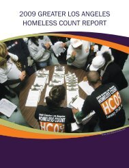 2009 greater los angeles homeless count report - Legal Aid ...