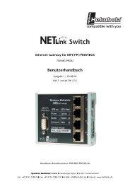 NETLink Swtich Handbuch - TP Automation e.K.