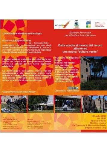 Programma - Eurosolar Italia