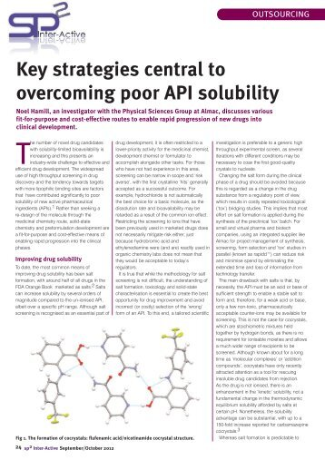 Key strategies central to overcoming poor API solubility - Almac