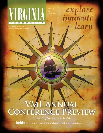 VML ANNUAl CONFERENcE PREviEw - the Virginia Municipal ...