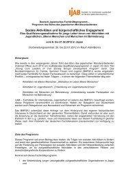 Soziale Aktivitäten und bürgerschaftliches Engagement - IJAB