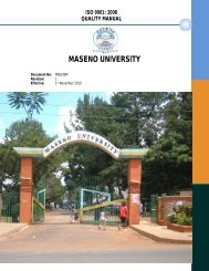 Read More on Quality Manual - Maseno University