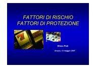 FATTORI DI RISCHIO FATTORI DI PROTEZIONE - Ce.Do.S.T.Ar.