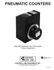 PNEUMATIC COUNTERS - Control Line Equipment, Inc.