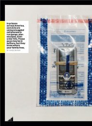 In prisons across America, convicts are using smuggled cell ... - Wired