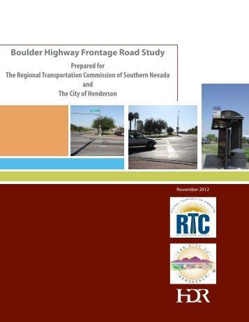 Boulder Highway Frontage Road Study - Regional Transportation ...