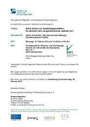 Einladung Lunchvortrag 14. Februar 2012 - Marketingclub Saar
