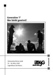 Generation '?' Wer bleibt gewinnt! - KjG Mainz