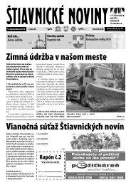 Vianočná súťaž Štiavnických novín Zimná údržba ... - Banská Štiavnica