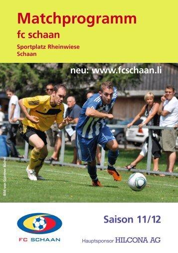 Matchprogramm - FC Schaan