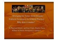 Aboriginal & Torres Strait Islander Cultural Awareness in General ...