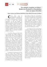 Les réfugiés congolais au Gabon - Université de Poitiers