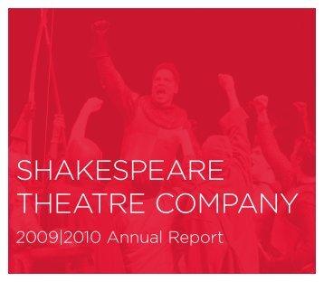ShakeSpeare TheaTre Company - The Shakespeare Theatre ...